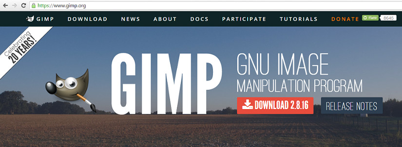 download GIMP click here